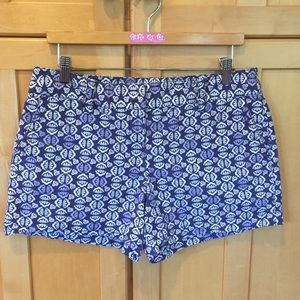 Anne Taylor LOFT with pretty blue design SHORTS