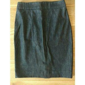 J Crew denim pencil skirt