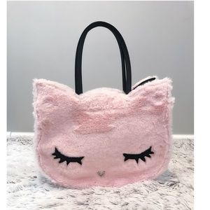 NWT Luv Betsey Johnson Blush Furry Kitty Tote Bag