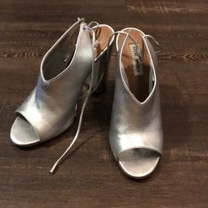Silver Steve Madden heel!  have only worn once!