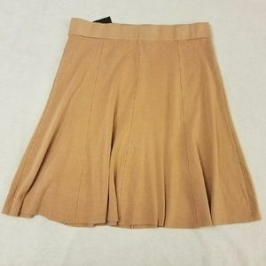 Alfani Fit Flare Brown Pull On Sweater Skirt