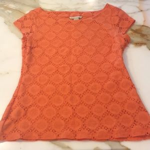 Banana Republic orange lace top