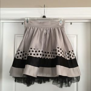 Patterned Polka Dot Tulle Skirt