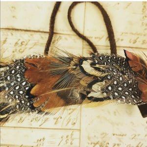 🆕Boho Vintage Feather choker necklace