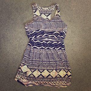 Printed Razorback Strap Dress Junior Size