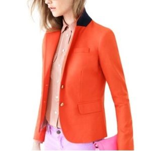 J.Crew Orange Schoolboy Blazer