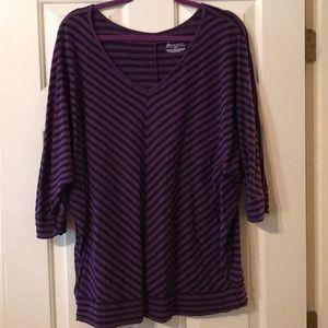 Lane Bryant purple blouse  quarter length sleeve