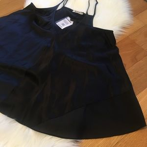 T Alexander Wang Black %100 Silk Tank Blouse