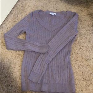 Purple Lavender Cable Knit Sweater from Loft