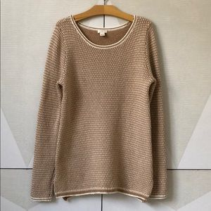J.Crew wool blend sweater cream tan S