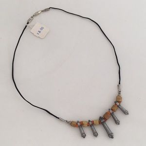 Vintage 1970s African Beaded Choker FIVE POINTS