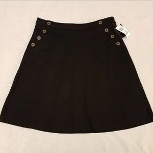 Alfani Mariner A-Line Black Skirt