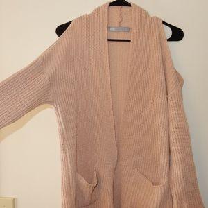 ASOS Cardigan Peek Shoulder Sweater