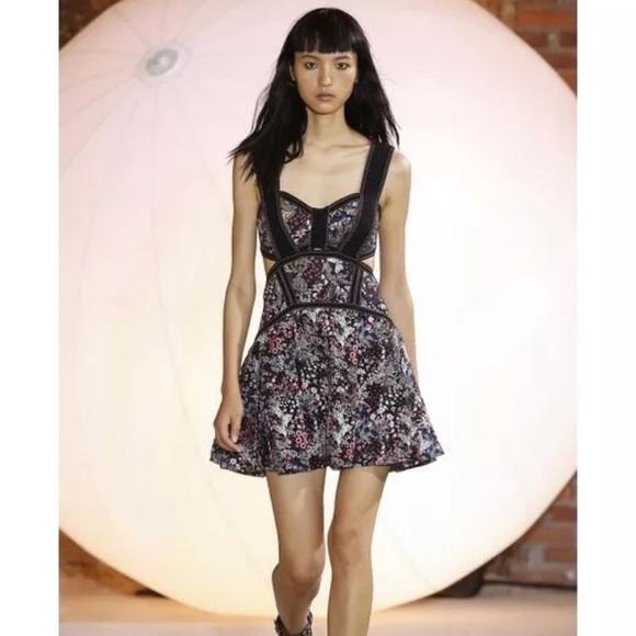 d1ce4f526e Self Portrait Jacquard Floral Mini Dress
