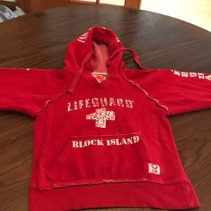 Boys life guard block Island sweatshirt with hood