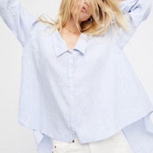 Free People Cool Like Courtney ButtonDown Shirt