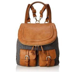 Aldo Backpack in Grey and Cognac