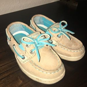 Teal Sparkly Sperry Shoes