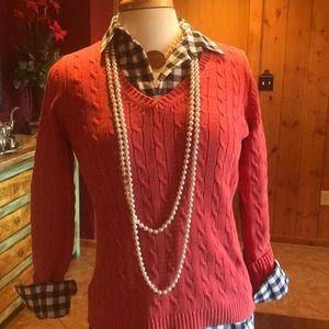 Coral loft v neck sweater