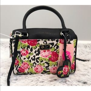 Luv Betsey Johnson MiniBarrel Floral Crossbody Bag