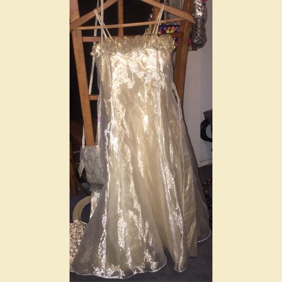 primrose dresses adorable sheer gold white colored girls dress