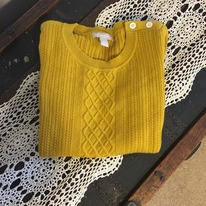 Banana Republic Golden Yellow cozy sweater