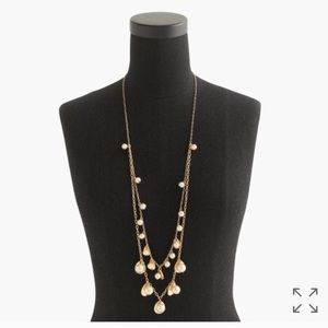 NWT J. CREW 2 STRAND PEARLS W/TEARDROPS NECKLACE