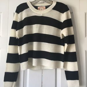 Forever 21 Crop Top Striped Sweater M