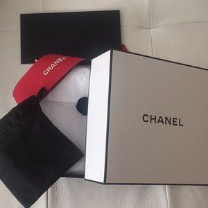 Chanel Gift Box w/ Pouch, Ribbon, Paper & Receipt