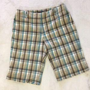 NY & Co plaid Bermuda shorts Size 10