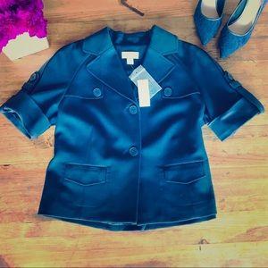 Ann Taylor Loft Navy Jacket Short Sleeve NWT Sz 10