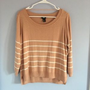Striped Salmon Sweater H&M
