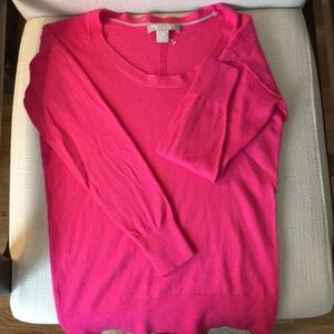Adorable pink 100% Merino wool sweater!