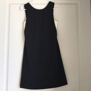 Black Zara Cocktail Dress w. White Bandeau Cutout