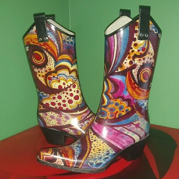 9a02b687f8c Nomad Women's Rubber Cowboy Boots
