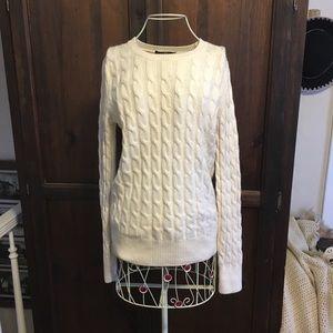 Gap brand angora cable knit sweater