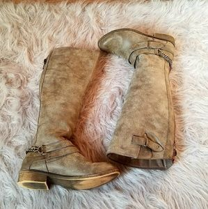 Madden Girl Distressed Tall Boots size 7