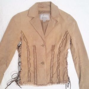 Wilson Leather lace up suede jacket