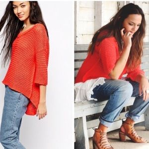 Free people park slope sweater poppy