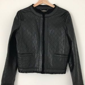 Authentic women's genuine leather jacket