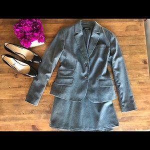 Talbots Wool Skirt Suit Blazer & Jacket Gray Sz 8