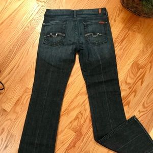 7FAMK BootCut Jean with Embellished pockets