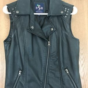 Forever 21 faux leather vest! NEW!