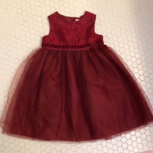 Gymboree girls red Christmas dress