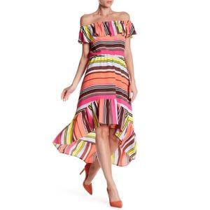 • Charles Henry • Off Shoulder Ruffle Summer Dress