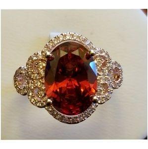 Jewelry - Genuine Mozambique Garnet Ring Size 10