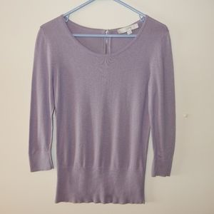 LOFT Ann Taylor Lilac/Purple Light Sweater
