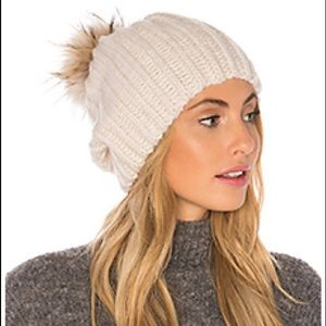 Hat Attack beanie with fur Pom Pom!