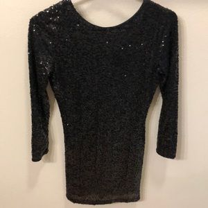 Black sequined dress!