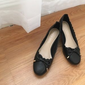 New black ballet inspired block heels